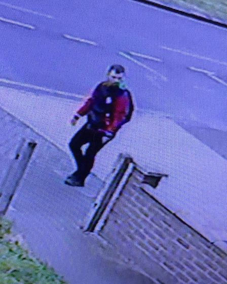 Images from April 28 after a woman reported being raped in Orchards Playing Field in Goodmayes Park around 7.20pm.