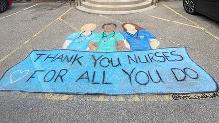 A mural thanking St Albans and Harpenden community nurses for their resilience during the pandemic.