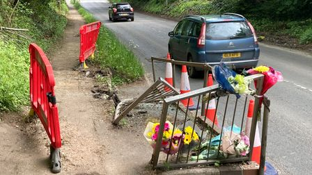 Floral tributes have been left at the scene of the recent fatality on St Albans Road.