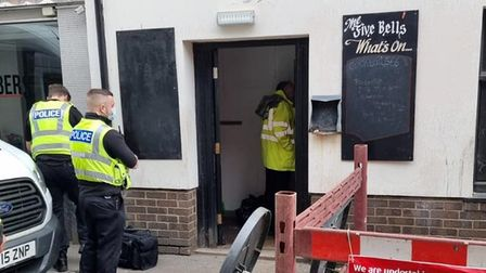 A cannabis factory has been uncovered atThe Five Bells in Norfolk Street, Wisbech.