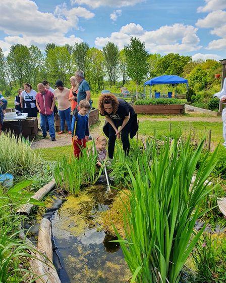 CDA Community Garden event with talk on bees