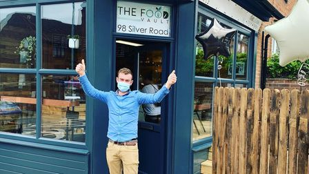 Sam Brown at The Food Vault on Silver Road in Norwich