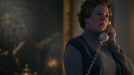Olivia Colman as Queen Elizabeth in season four of The Crown. This scene was filmed on location at K