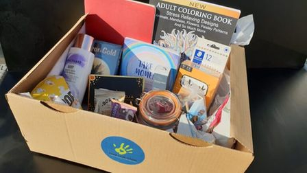 One of the support packages given by Norfolk charity Take Our Hand