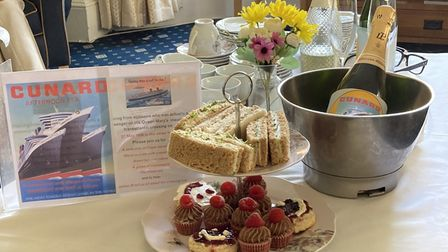 A special afternoon tea was organised by Margaret House, with Cunard gifting champagne for the occasion.