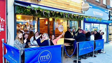 The exterior of RM5 Lounge Bar in Romford