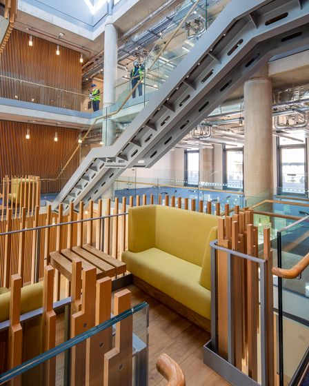 The environmentally-friendly interior of the new Pears Building in Hampstead