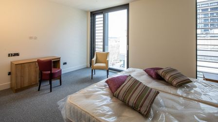 One of the new patient bedrooms at the Pears Building in Hampstead