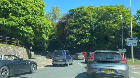 Queues have formed on Bracondale and Queens Road in Norwich.