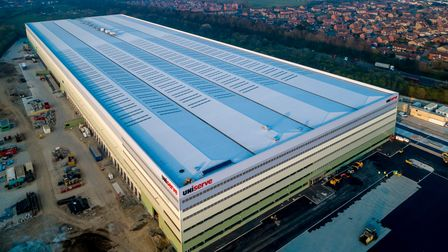The massive new Uniserve distribution centre due to open this summer on the edge of the Port of Felixstowe