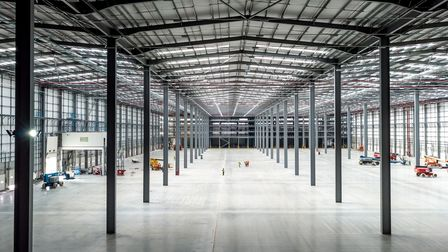 A first look inside the giant new Uniserve distribution centre on the edge of Felixstowe Port