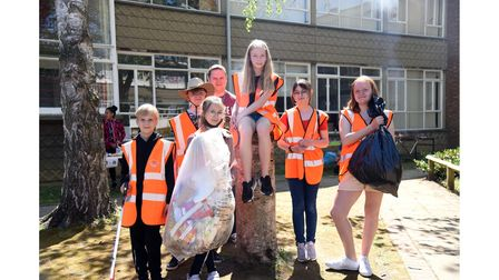 Year 7 pupils at Westbourne Academy took part in a litter pick at the school and in the nearby park