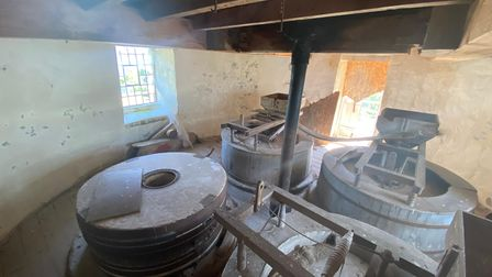 Kyle Smart, 28, is renovating the site of the Sutton Windmill. He will live in the granary with his