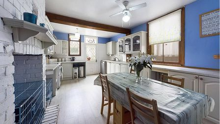 The spacious kitchen -dining room