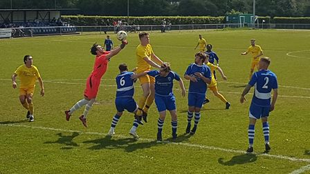 Chris Griffen in action for Colney Heath