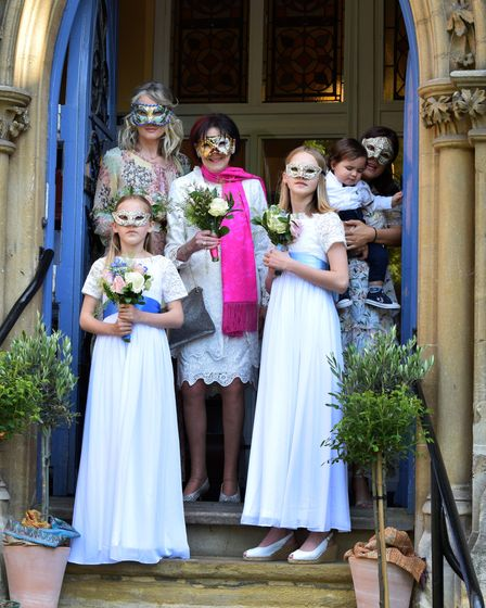 The wedding of Marjorie Wallace and John Mills at Pond Square Chapel Highgate 29.05.21.Marj