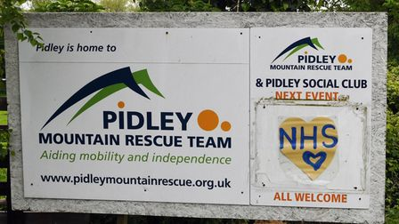 The Pidley Mountain Rescue Team raises money to support people with disabilities.