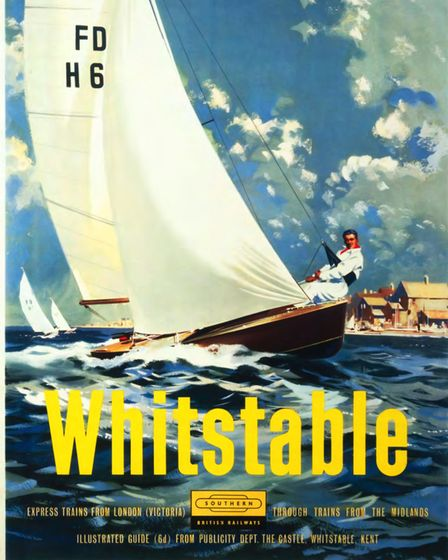 Whitstable poster, by Laurence Fish