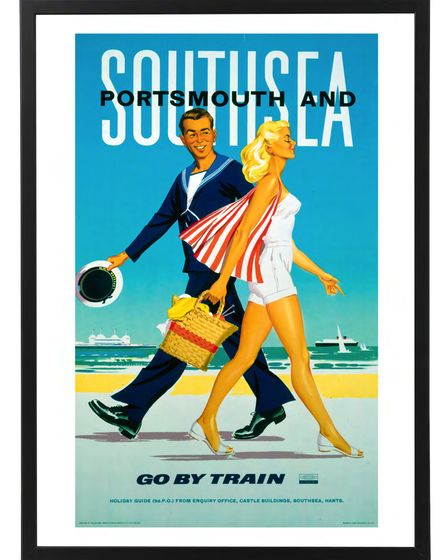 Portsmouth and Southsea poster, by Laurence Fish