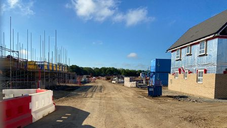 Building work has started on the Woodland Heath development off Salhouse Road in Sprowston.