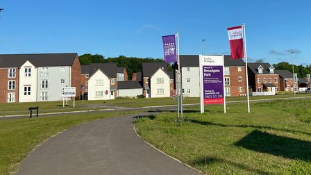 The new homes off Atlantic Avenue, Sprowston, which have been built on the White House Farm development.