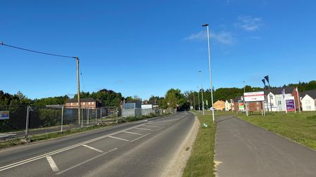 The future housing developments off Salhouse Road, Sprowston, opposite newly-built estates.