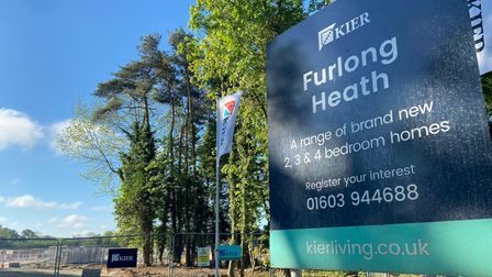 The Kier Living Furlong Heath development off Salhouse Road in Sprowston where building work has started.
