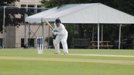Action from Clevedon's latest match