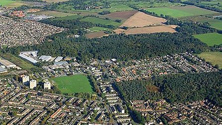 Anaerial view of Sprowston from 2010.