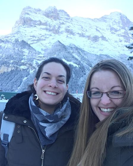 Rose Ling, right, in Switzerland with Amelie Guerin.