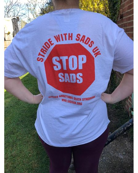 Rose Ling has done some of her walking in this T-shirt for SADS UK