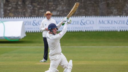 Clevedon's Will Plummer on the attack at Bath