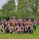 The Year 8 and 9 athletics team at King James Academy in Royston