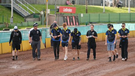 The Witches on a track walk ahead of the meeting at Monmore Green.