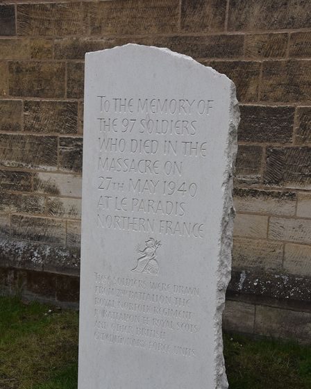 TheLe Paradis Memorial at Norwich Cathedral