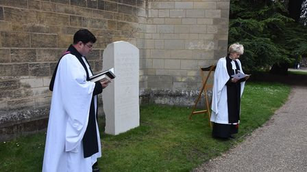 Blessing of Le Paradis Memorialat Norwich Cathedral.