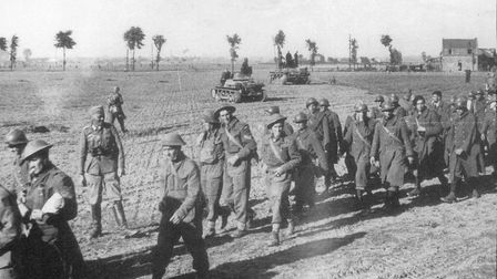 VE Day Dunlirl Le Paradis. Pictured: not all the British troops escaped from Dunkirk. These men, tog