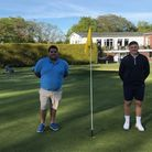 Ben Phillips and Rob Willey at Honiton GC