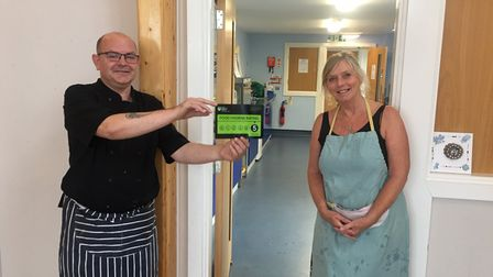 Clevedon Aid has been given the top hygeine rating for its hot meals service to people in need.