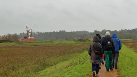 The North Norfolk U3A walking group on a day out at Cley next the Sea.
