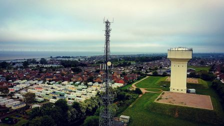A view of the Caister Water Tower during the May Bank Holiday weekend.