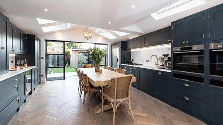 There are Crittal style doors to the rear elevation, which allow ample light to flow in.