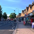 Portishead High Street in May 2020.