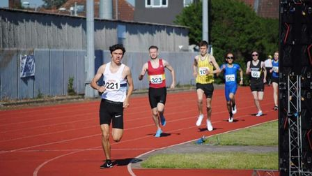 Ilford Athletics Club runners in action at Mayesbrook Park