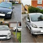 """Cars parking on pavements in Stukeley Meadows are putting people """"in danger""""."""