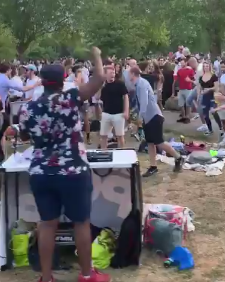 An unlicensed music event in London Fields last year.