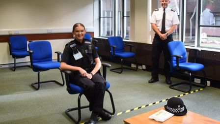 Pc Molly Stanmore and SgtJon Driver