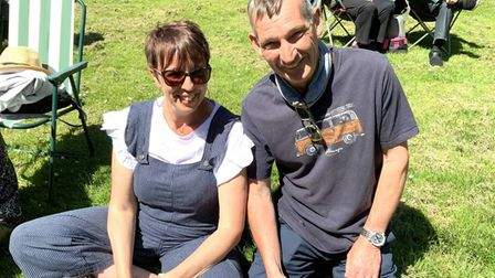 Couple enjoying the music at the Friends of Wisbech Bandstand summer concert