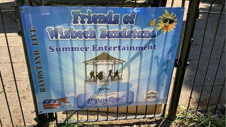 Poster promoting the Friends of Wisbech Bandstand events
