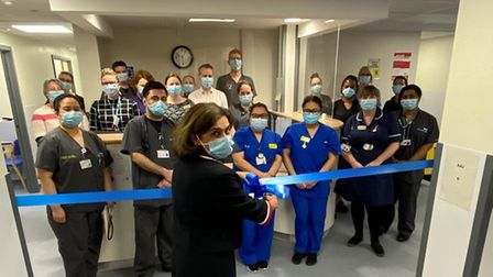Dr Kanchan Rege, chief medical officer, conducting the opening of the acute assessment unit and ambulatory care unit.